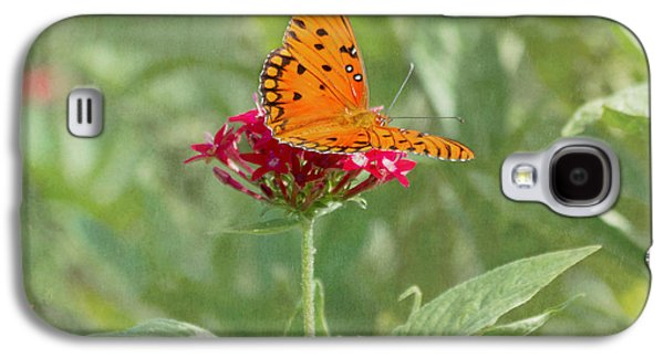 Kim Photographs Galaxy S4 Cases - At Rest - Gulf Fritillary Butterfly Galaxy S4 Case by Kim Hojnacki