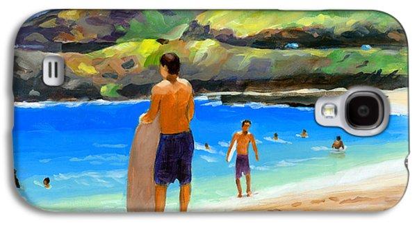 Beach Landscape Galaxy S4 Cases - At Sandy Beach Galaxy S4 Case by Douglas Simonson