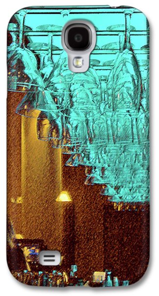 Wine Reflection Art Galaxy S4 Cases - At The Bar Galaxy S4 Case by Ben and Raisa Gertsberg