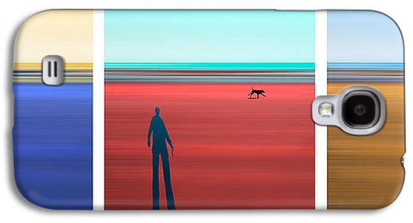 Dogs Digital Art Galaxy S4 Cases - At The Beach Galaxy S4 Case by Mal Bray
