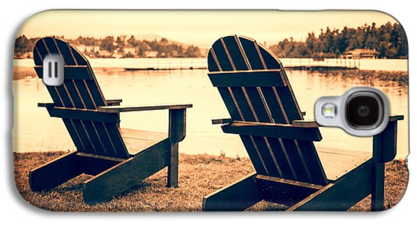 Chair Galaxy S4 Cases - At the Lake Galaxy S4 Case by Edward Fielding