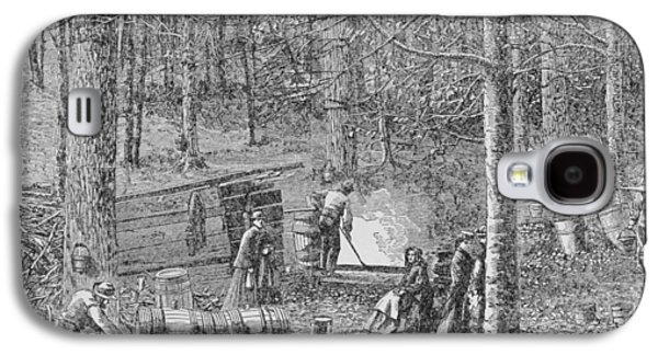Collect Galaxy S4 Cases - At The Maple Syrup Camp, Illustration From Harpers Weekly, 1867, From The Pageant Of America Galaxy S4 Case by American School