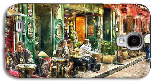 French Open Mixed Media Galaxy S4 Cases - At the Restaurant in Paris Galaxy S4 Case by Marian Voicu