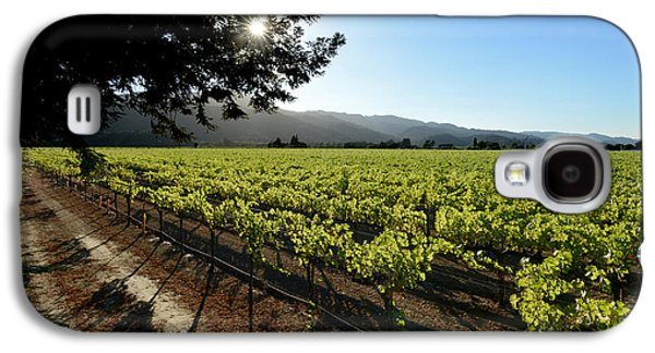 Wine Barrel Photographs Galaxy S4 Cases - At the Vineyard Galaxy S4 Case by Jon Neidert