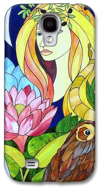 Print Glass Art Galaxy S4 Cases - Athena Galaxy S4 Case by Suzanne Tremblay