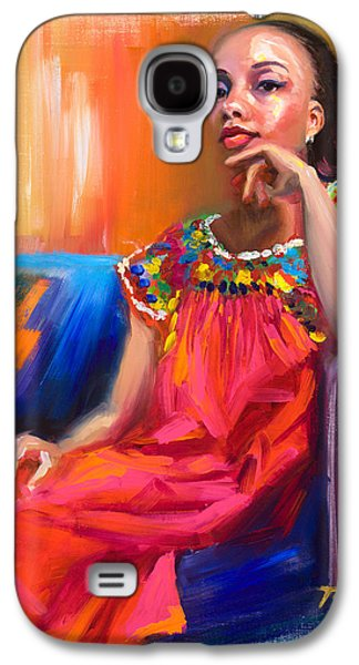 Pride Paintings Galaxy S4 Cases - Athena Galaxy S4 Case by Talya Johnson