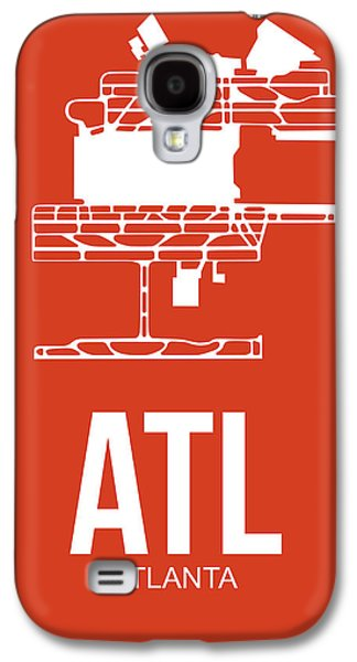 Town Mixed Media Galaxy S4 Cases - ATL Atlanta Airport Poster 3 Galaxy S4 Case by Naxart Studio