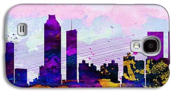 Architectural Paintings Galaxy S4 Cases - Atlanta City Skyline Galaxy S4 Case by Naxart Studio