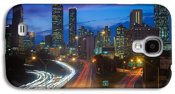 North America Photographs Galaxy S4 Cases - Atlanta downtown by night Galaxy S4 Case by Inge Johnsson