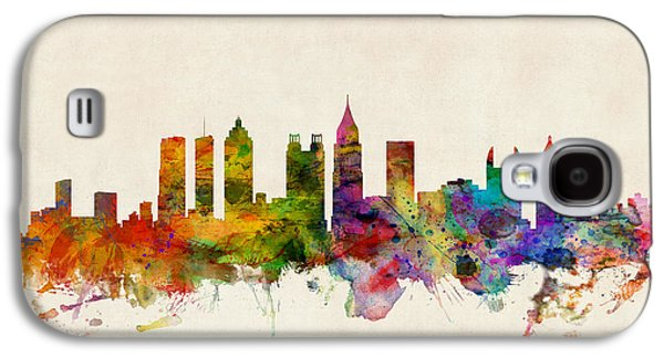 Cityscape Digital Galaxy S4 Cases - Atlanta Georgia Skyline Galaxy S4 Case by Michael Tompsett