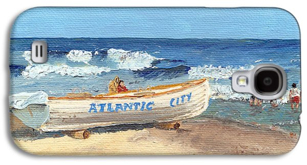 Jersey Shore Paintings Galaxy S4 Cases - Atlantic City Beach Galaxy S4 Case by Arch