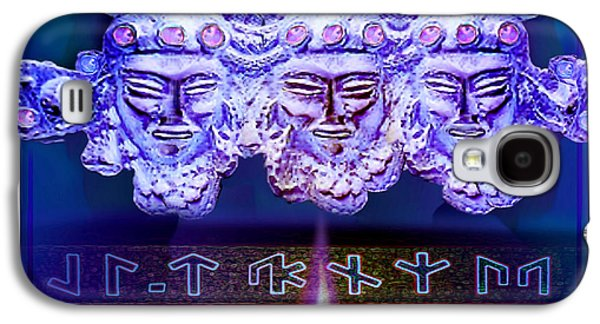 Ancient Sculptures Galaxy S4 Cases - Atlantis Enigma Galaxy S4 Case by Hartmut Jager