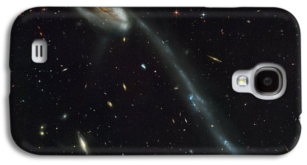 Abstract Digital Mixed Media Galaxy S4 Cases - Atlas of Peculiar Galaxies Galaxy S4 Case by Celestial Images