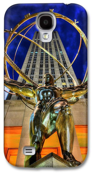 The Heavens Galaxy S4 Cases - Atlas Statue at Rockefeller Center Galaxy S4 Case by Randy Aveille