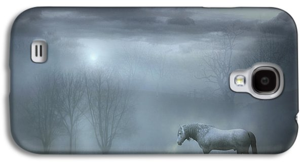 Horse Digital Galaxy S4 Cases - Atmospheric Night Galaxy S4 Case by Jennifer Woodward