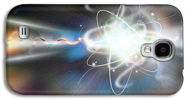 Components Galaxy S4 Cases - Atom Collision Galaxy S4 Case by Mike Agliolo