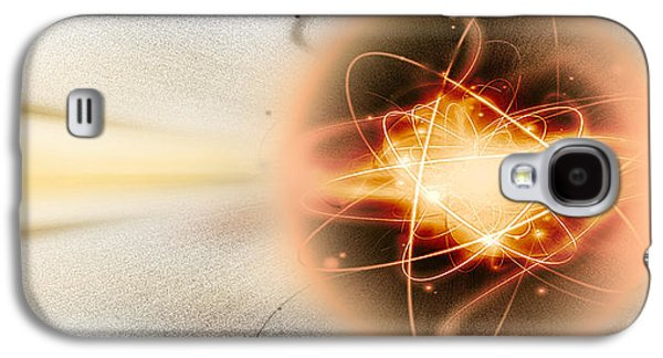 Exploding Galaxy S4 Cases - Atom Collision Galaxy S4 Case by Panoramic Images