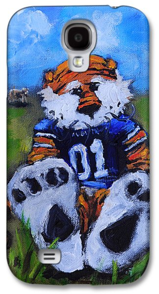 Mascot Galaxy S4 Cases - Aubie With the Cows Galaxy S4 Case by Carole Foret