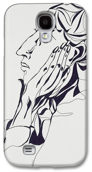 Portraits Pastels Galaxy S4 Cases - Aubrey Beardsley Galaxy S4 Case by Stevie Taylor