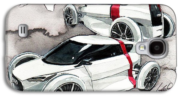 Concept Paintings Galaxy S4 Cases - Audi Urban concept Galaxy S4 Case by Yoshiharu Miyakawa