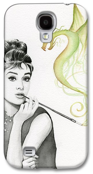 Green Galaxy S4 Cases - Audrey and Her Magic Dragon Galaxy S4 Case by Olga Shvartsur