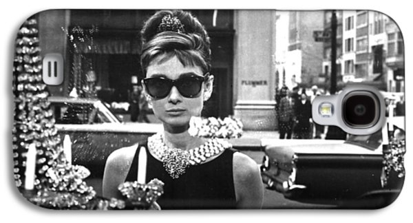 Face Digital Galaxy S4 Cases - Audrey Hepburn Breakfast at Tiffanys Galaxy S4 Case by Nomad Art And  Design