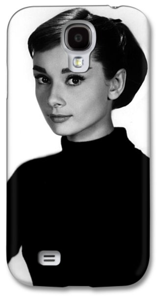 1950s Portraits Photographs Galaxy S4 Cases - Audrey Hepburn in Funny Face Galaxy S4 Case by Nomad Art And  Design