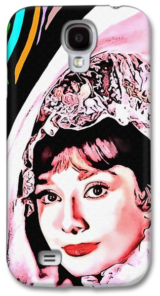 First Lady Mixed Media Galaxy S4 Cases - Audrey Hepburn in My Fair Lady Galaxy S4 Case by Art Cinema Gallery