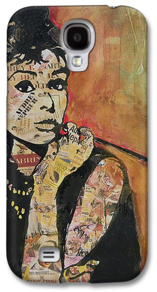 At Poster Mixed Media Galaxy S4 Cases - Audrey Hepburn  Galaxy S4 Case by Jenny Berry
