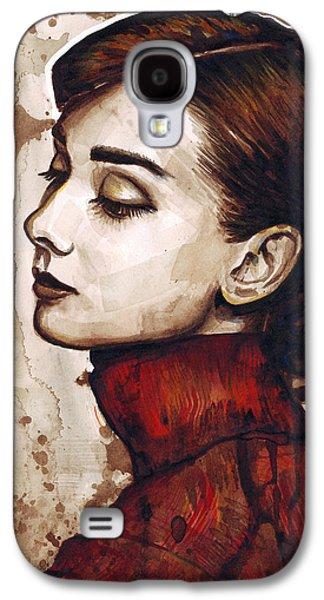 Audrey Hepburn Galaxy S4 Case by Olga Shvartsur