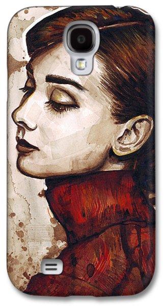 Ink Galaxy S4 Cases - Audrey Hepburn Galaxy S4 Case by Olga Shvartsur