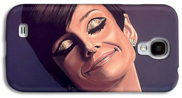 Holiday Paintings Galaxy S4 Cases - Audrey Hepburn Galaxy S4 Case by Paul  Meijering