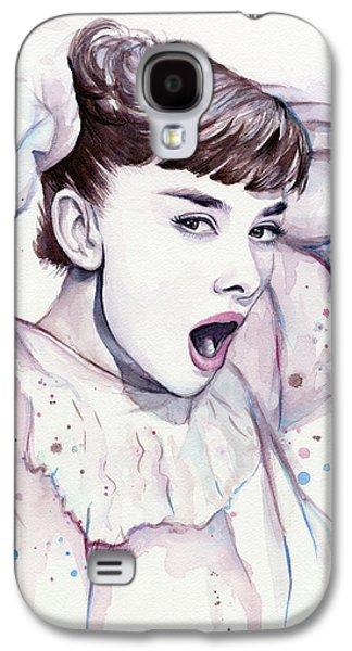 Purple Prints Galaxy S4 Cases - Audrey - Purple Scream Galaxy S4 Case by Olga Shvartsur