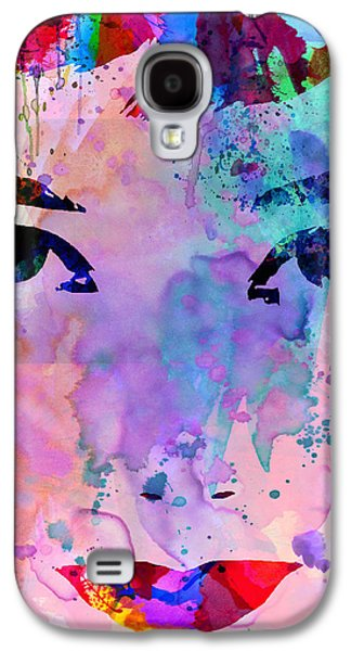 Actors Paintings Galaxy S4 Cases - Audrey Watercolor Galaxy S4 Case by Naxart Studio