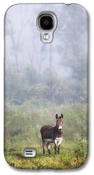 Animals Love Galaxy S4 Cases - August morning - Donkey in the field. Galaxy S4 Case by Gary Heller