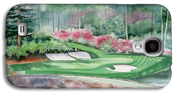 Master Paintings Galaxy S4 Cases - Augusta National 12th Hole Galaxy S4 Case by Deborah Ronglien