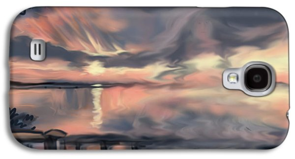 Abstract Seascape Drawings Galaxy S4 Cases - Aunt Jo Galaxy S4 Case by Jean Pacheco Ravinski
