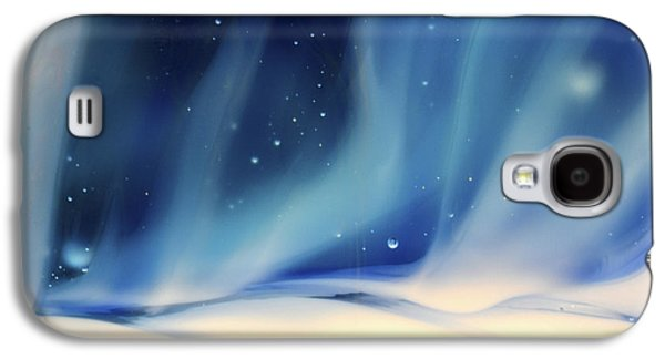 Blue Abstracts Glass Galaxy S4 Cases - Aurora 1 Galaxy S4 Case by Kimberly Lyon