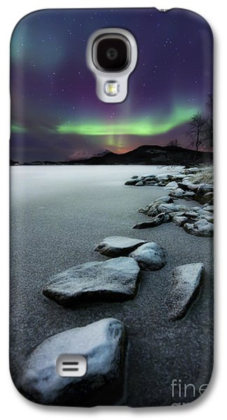 Light Photographs Galaxy S4 Cases - Aurora Borealis Over Sandvannet Lake Galaxy S4 Case by Arild Heitmann
