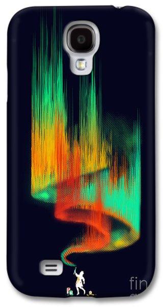 Painter Digital Art Galaxy S4 Cases - Aurora Borealis painter Galaxy S4 Case by Budi Satria Kwan