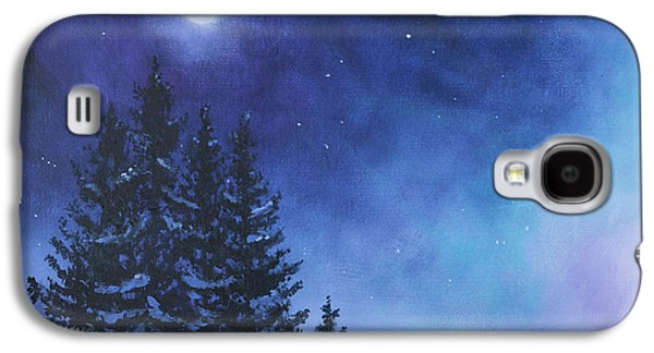 Kinkade Galaxy S4 Cases - Aurora Borealis Winter Galaxy S4 Case by Cecilia  Brendel