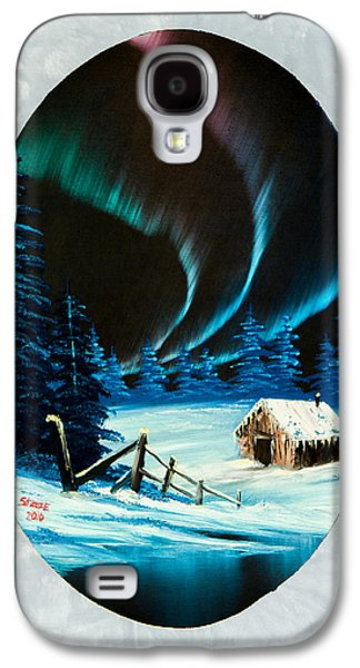 Sawtooth Mountain Paintings Galaxy S4 Cases - Auroras Beauty Galaxy S4 Case by C Steele