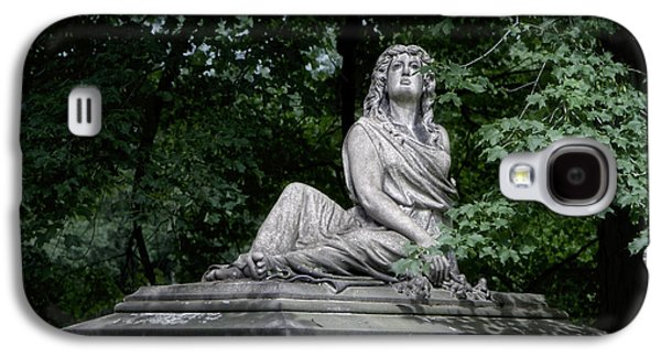 Headstones Galaxy S4 Cases - Aurther Haserot Monument Galaxy S4 Case by Tom Mc Nemar