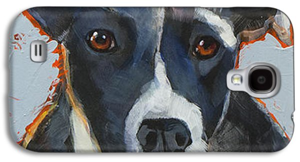 Cattle Dog Galaxy S4 Cases - Aussie Galaxy S4 Case by Mary Medrano