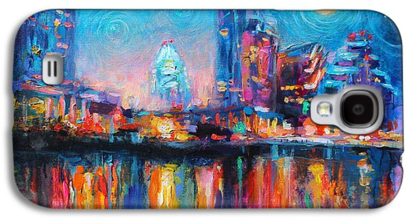Decor Drawings Galaxy S4 Cases - Austin Art impressionistic skyline painting #2 Galaxy S4 Case by Svetlana Novikova