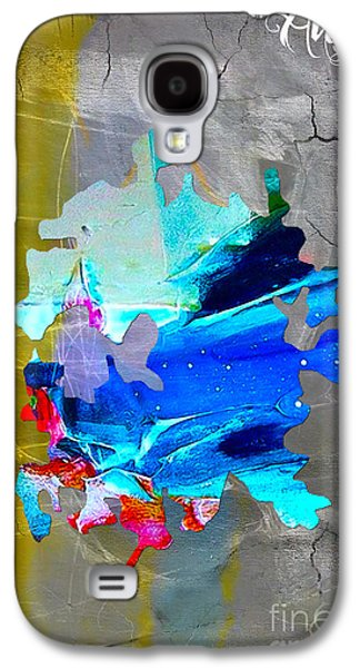 Austin Map Watercolor Galaxy S4 Case by Marvin Blaine