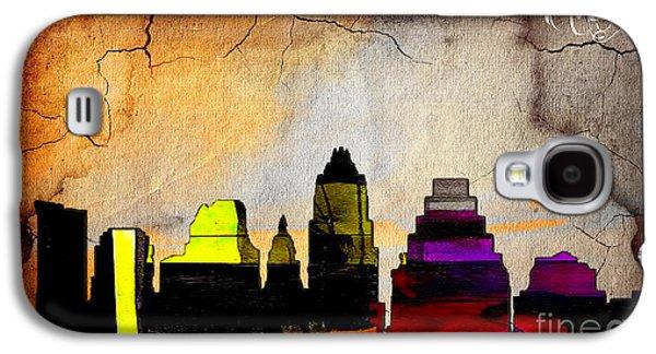 Austin Skyline Watercolor Galaxy S4 Case by Marvin Blaine
