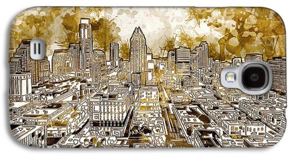 Austin Texas Abstract Panorama 6 Galaxy S4 Case by Bekim Art