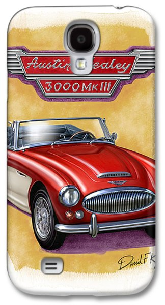 See Galaxy S4 Cases - Austin3000-red-wht Galaxy S4 Case by David Kyte