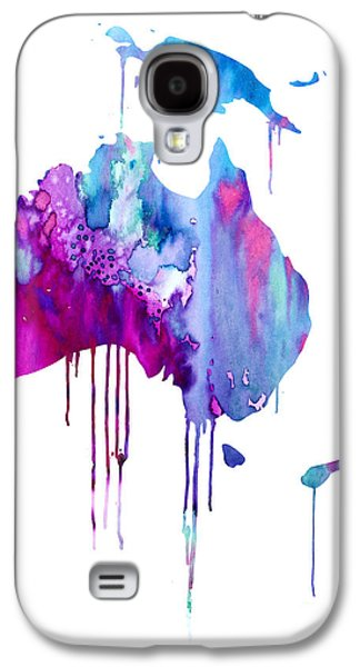 Maps Paintings Galaxy S4 Cases - Australia 2 Galaxy S4 Case by Luke and Slavi